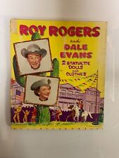 VINTAGE 1956 ROY ROGERS & DALE EVANS PAPER DOLLS and CLOTHES