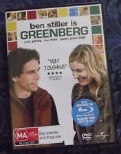 GREENBERG DVD, BEN STILLER MA 15+, RHYS IFANS,JENNIFER J LEIGH , PAL ALL REGIONS