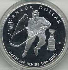 Canada 1 Dolar plata 1993 patinaje sobre hielo PROOF @@