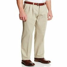 Men's Lee Reserve Wrinkle Resistant Pleated Dress Pants, Tan Size 30 x 30 - NEW!