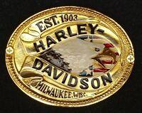 Rare Harley Davidson Screaming Eagle Est 1903 Mil Wisc. Raintree Belt Buckle New