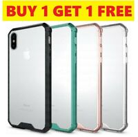 Ragetorc FUSION BUMPER Gel Case Clear Rear Panel For APPLE IPHONE X [2 FOR 1]