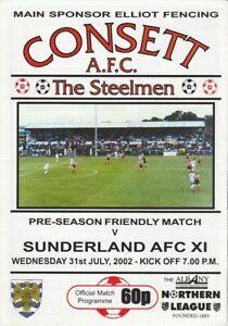 Consett v Sunderland XI 31-Jul-2002