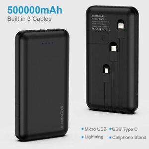 Powerbank 500000mAh Kleines, Tragbares Ladegerät für iPhone, Huawei, Samsung DHL