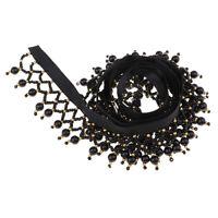 1 Yard Beaded Tassel Fringe Ribbon Lace Trim for Sewing Dress Decoration