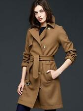 NWT GAP 'FALL 2015' Wool trench Coat Jacket, Camel SIZE M