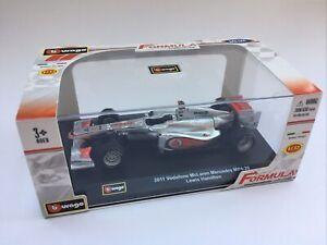 BURAGO 41203 McLAREN Mercedes MP4-26 F1 model race car Lewis Hamilton 2011 1:32