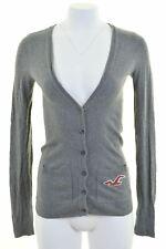 HOLLISTER Womens Cardigan Sweater Size 6 XS Grey Cotton  KV13