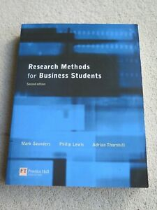 Research methods for Business Students CMS DMS MBA book