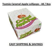 Tootsie Caramel Apple Pops Suckers Candy Lollipops Bulk  48 CT EASY SHIPPING