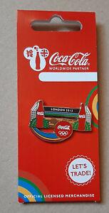 pin's Jeux Olympiques / Londres 2012 - partenariat Coca cola (mur London)
