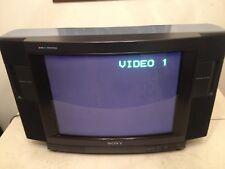"Rare Sony KV-20Hfr CRT Classic NES / SNES Gaming TV 20"" Trinitron Remote"