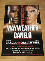 "FLOYD MAYWEATHER vs. CANELO ALVAREZ FIGHT POSTER ""THE ONE"" 2013 ORIGINAL in MINT"