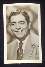 Robert Strauss 1940's 1950's Actor's Penny Arcade Photo Card