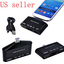 HDTV HDMI adapter with USB OTG and Card reader For Samsung Galaxy S3 SIII S4