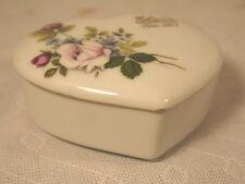 VINTAGE ELVIS MEMORIAL HEART SHAPED JEWELRY TRINKET DRESSER JAR BOX JAPANESE