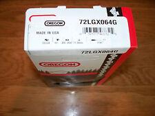 "1 72LGX064G Oregon 18"" Full chisel chainsaw chain  3/8 .050 gauge 64 Drive Links"