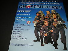 GHOSTBUSTERS II is a CHARTBUSTER 1989 Promo Poster Ad mint condition