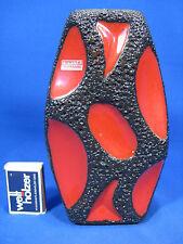 RARE Roth Céramique Fat Lava Vase Red Glaze 309 in Perfect condition 19 cm