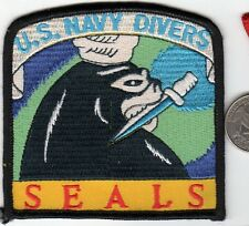 US Navy Seals Patch Naval Special Forces Divers Seal Diver w Fighting Knife UDT