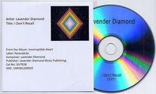LAVENDER DIAMOND I Don't Recall UK 1trk promo test CD Becky Stark Living Sisters
