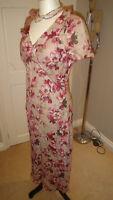 Gorgeous Penny Plain Cream, Pink  Floral Cotton Tea Dress Size UK 10
