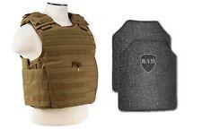 Body Armor | Bullet Proof Vest | AR500 Steel Plates | Base Frag Coat EXP TAN XXL