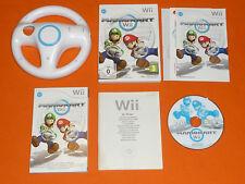 Nintendo Wii Spiel : Mario Kart Wii mit Wii Wheel Lenkrad