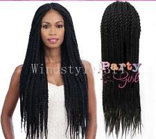 Lady Twist Large Synthetic Braided Lace Front Wig Heat Resistant Synthetic Hairs