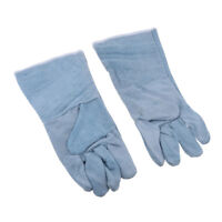 Safety Welding Work Soft Cowhide Leather Gloves For Protecting Hand Grey