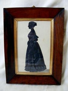Antique Georgian Silhouette of a Young Lady c1830