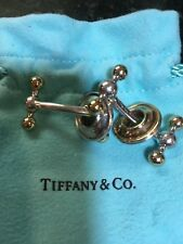 Tiffany & CO. Sterling Silver and 18K Gold Paloma Picasso Reversible  Cufflinks