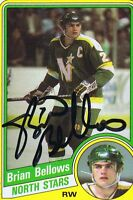 Brian Bellows 1984 Topps Autograph #71 North Stars