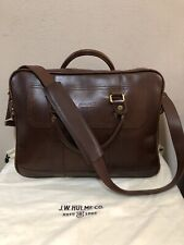 J.W. HULME CO. Leather Briefcase Made In USA Great Condition