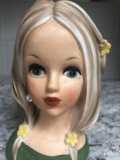 New ListingVintage Rubens #4188 Teen Lady Head Vase Flower Child
