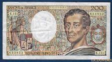 200 Francs Montesquieu Type 1981 - 1992 E.151 Qualité TTB +