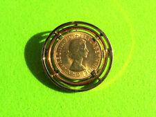 Goldmünze GB Full Sovereign Queen Elizabeth II 1967 als Brosche