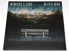 MUMFORD AND SONS BAND SIGNED 'WILDER MIND' RECORD ALBUM VINYL & LP COA MARCUS X4