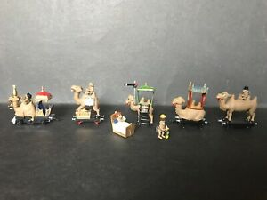 CEREAL TOY R&L CAMEL TRAIN LOT OF 5 WITH 5 MONKEYS, ALL HAVE BEEN PAINTED
