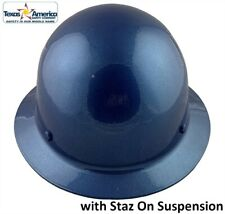Msa Skullgard Full Brim Hard Hat With Staz On Suspension Metallic Blue