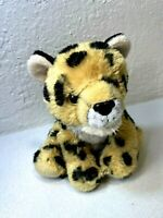 Wild Republic Leopard Plush Cat Black Spotted Stuffed Animal Kids Toy Brown