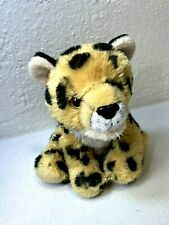 Wild Republic Leopard Plush Cat Black Spotted Stuffed Animal Kids Toy Brown