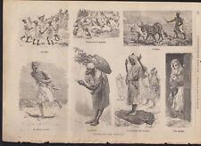 IMPRESSIONI DEL MAROCCO XILOGRAFIA TRATTA DALLA ILLUSTRAZIONE POPOLARE 1890