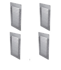 3 x Stainless Steel Rectangular 14 Louvre Air Vent, Caravan, Boat, Wall Eave