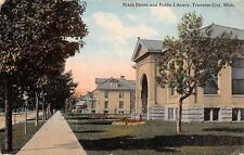 Traverse City Michigan~Sixth Street Homes~Carnegie Public Library~Museum~1913 PC