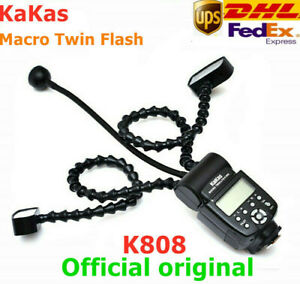 KAKAS K-808 GN58 5600K Camera Flash Macro Light Dual Flash Light For DSLR Camera