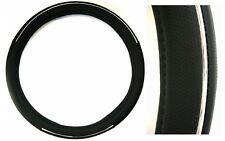 Lenkrad Bezug in Leder-Optik mit Chromring von Richter in schwarz 37,5 - 39 cm