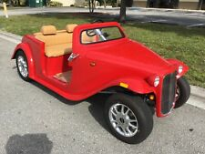 2021 RED california roadster Golf Cart car 4 Passenger Seat FAST LUXURY CUSTOM