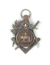Belgian antique silver freemasson massonic medal – Brussels Philantropes