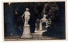RPPC  Potsdam Sanssouci , monument to Frederick the Great with Neptune's Grotto#